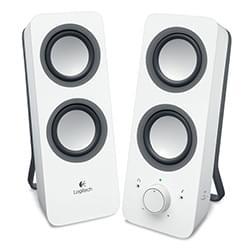 Logitech 2HP Multimedia Speakers Z200 Snow White