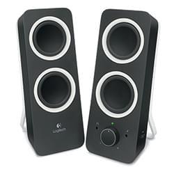 Logitech 2HP Multimedia Speakers Z200 Midnight Black